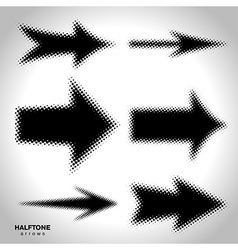 halftone arrows vector image
