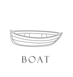 hand drawn boat vector image