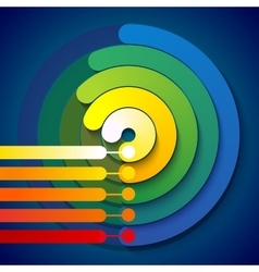 Infographic rainbow 3d circle shapes 5 options vector
