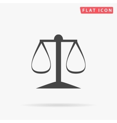 justice scale simple flat icon vector image