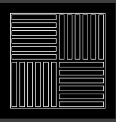 Laminate flooring white path icon vector