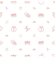 Leaf icons pattern seamless white background vector