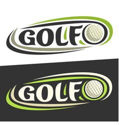 logos for golf sport vector image