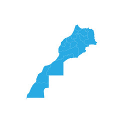 Map of morocco high detailed map - morocco vector