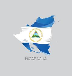 map of nicaragua vector image