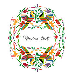 mexican traditional textile embroidery style from vector image