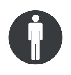 Monochrome round man icon vector image