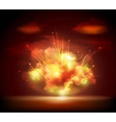 Night explosion background banner vector
