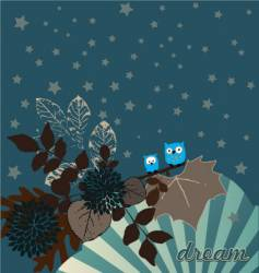 night owls illustration vector image