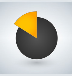 Pie chart icon graph symbol for your web site vector