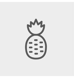 Pineapple thin line icon vector