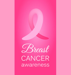 pink ribbon to world breast cancer awareness month vector image