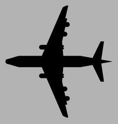 plane black art vector image