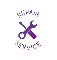 repair services icon on white background clean vector image