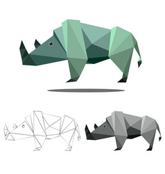 Rhino polygon vector