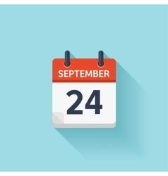 September 24 flat daily calendar icon vector