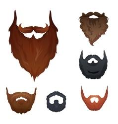 Set beards vector