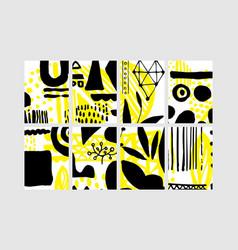 set creative universal floral elements hand vector image