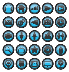 Set of web glass icons vector image