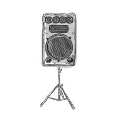 sound speaker stereo system vector image