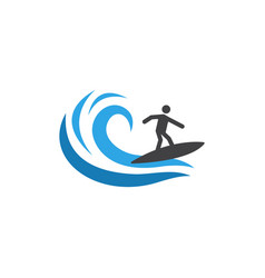 surfing graphic design template isolated vector image