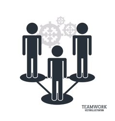 Teamwork support design vector