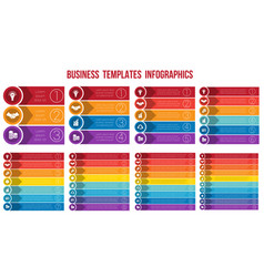 templates infographics from strips arrows of vector image