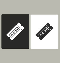 ticket - icon vector image