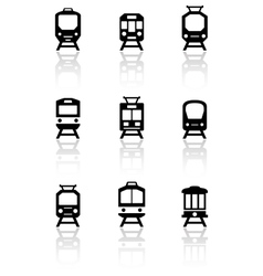 Trains set with reflection vector