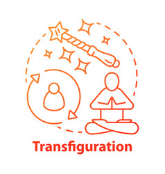 Transfiguration concept icon wizardry vector