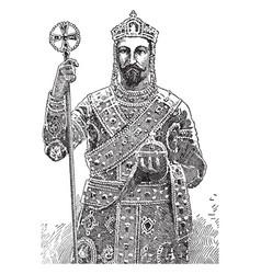 Tsar ferdinand vintage vector