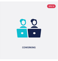 two color coworking icon from general-1 concept vector image