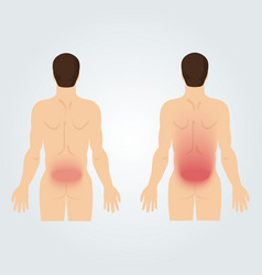 Two silhouettes men from back increased vector