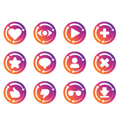 Update icon for social network application vector