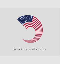 Usa flag modern style united states america vector
