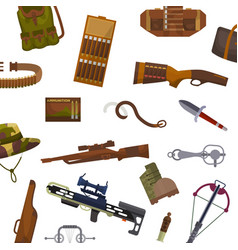 Weapon and hunting pattern vector