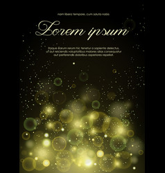 abstract golden notes soft vector image vector image