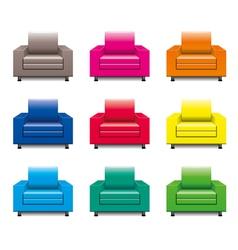 armchair set vector image