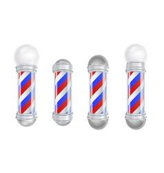 barber shop pole 3d classic barber shop vector image