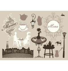 cafes and restaurants vector image