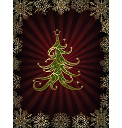 Christmas Tree On A Dark Background vector image