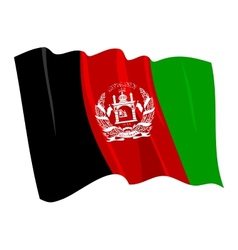 political waving flag of afghanistan vector image