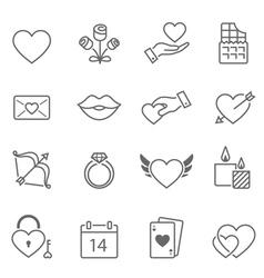 valentine outline stroke icon vector image
