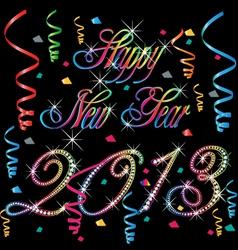 2013 Happy new year vector image vector image
