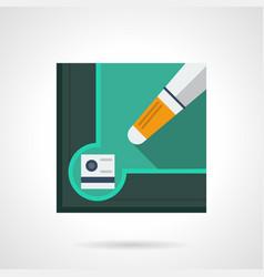 billiard tools flat square icon vector image vector image