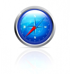 glossy compass vector image vector image