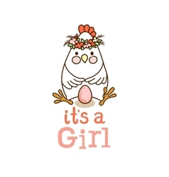 It is a Girl card vector image