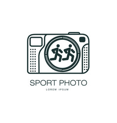 sport photo camera icon isolated vector image vector image