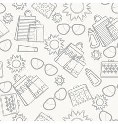 Summer accessories background sketch vector image vector image