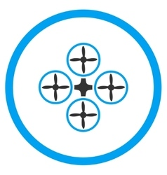 Airdrone Flat Icon vector image vector image